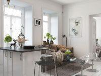 Mẫu phòng khách màu trắng trang trí đơn giản nhưng sang trọng của nhà thiết kế Sachin Mahajan.