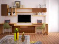 Không gian căn phòng trở nên hiện đại nhờ chiếc giá treo tường xinh xắn.