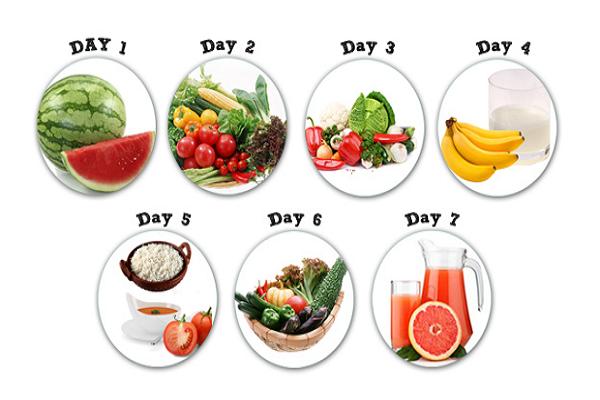 Thực đơn ăn kiêng giảm mỡ bụng khoa học trong 7 ngày