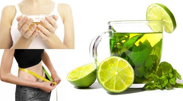 Chanh, trà xanh thức uống giảm cân thần thánh